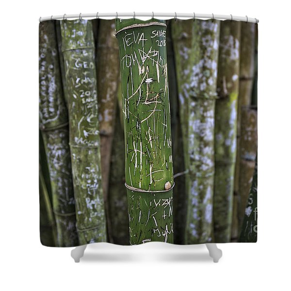 Scratched Bamboo Shower Curtain