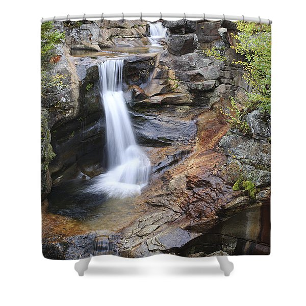 Shower Curtain featuring the photograph Screw Auger Falls - Maine  by Erin Paul Donovan