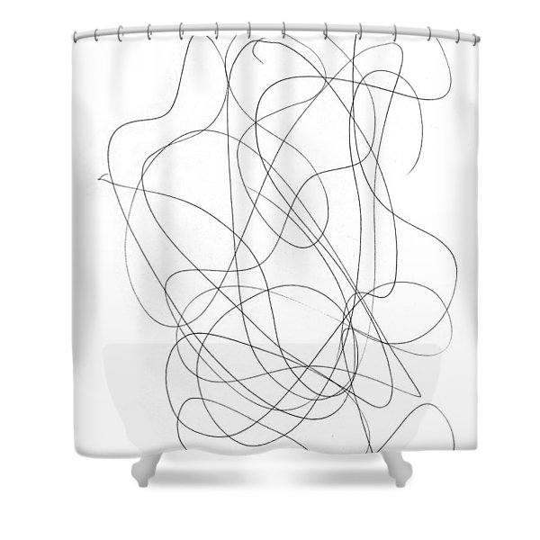 Scribble For Grin And Bear It Shower Curtain