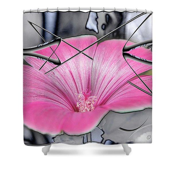 Scribble Petals..... Shower Curtain