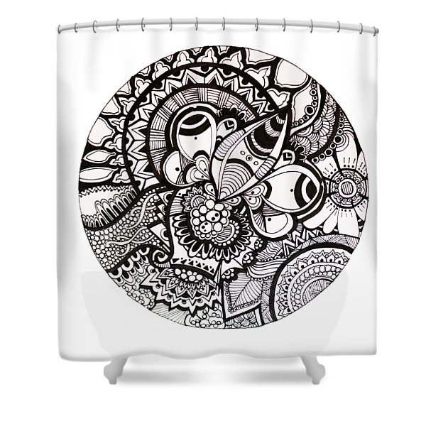 Scribbles Shower Curtain