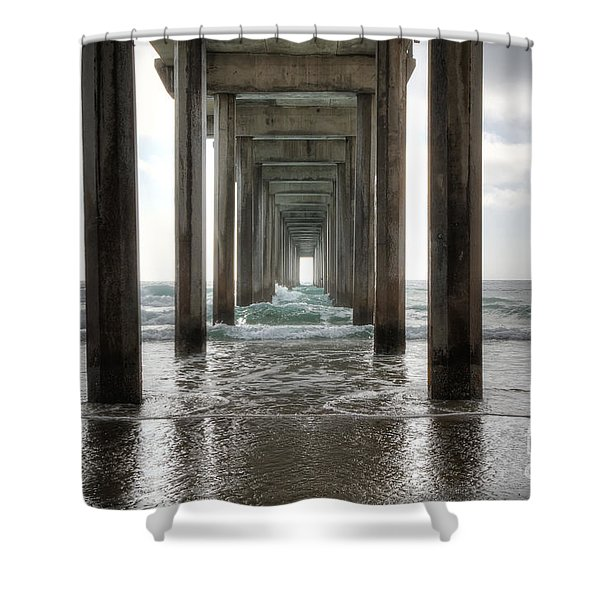 Scripps Pier Shower Curtain