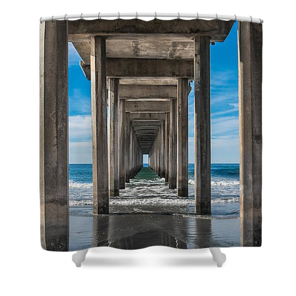 Scripps Pier La Jolla California Shower Curtain