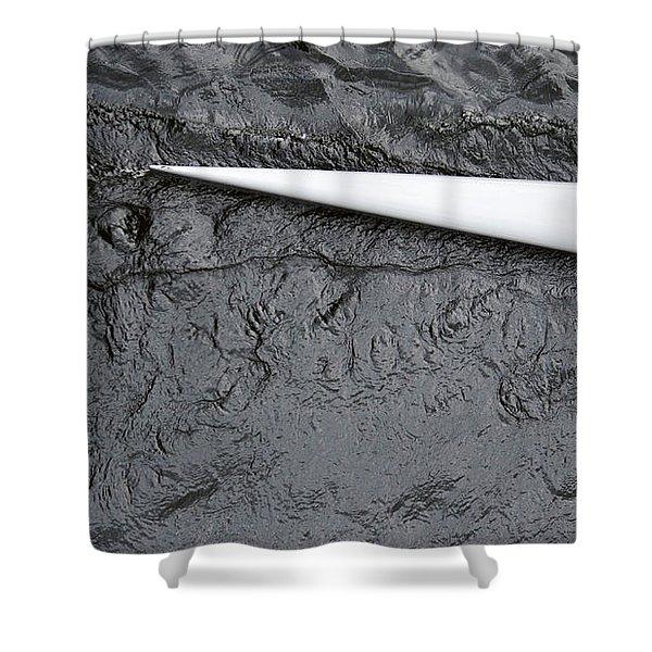 Scull White At The Regatta Shower Curtain