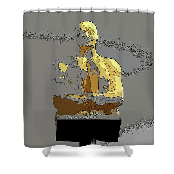 Sculpture In Nice Shower Curtain