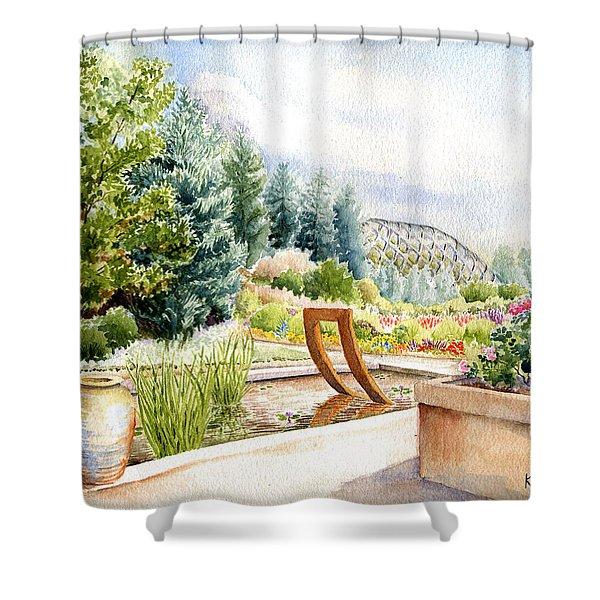 Sculpture Pool At Denver Botanic Gardens Shower Curtain