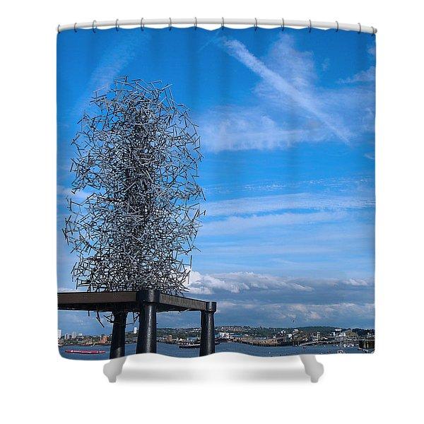 Sculpture, Skyline And Docs Shower Curtain