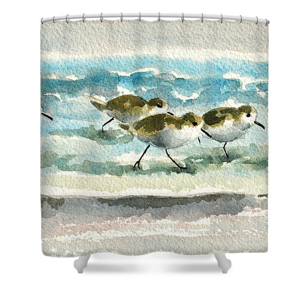 Scurrying Along The Shoreline 2  1-6-16 Shower Curtain