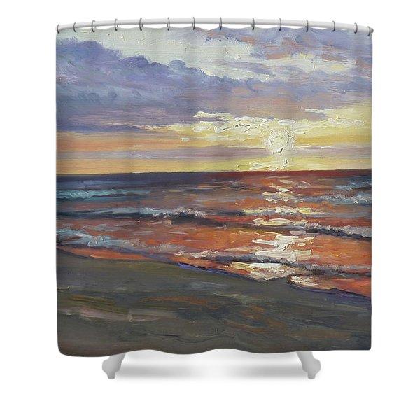 Sea Beach 8 - Baltic Sunset Shower Curtain