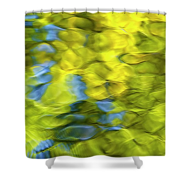 Sea Breeze Mosaic Abstract Shower Curtain