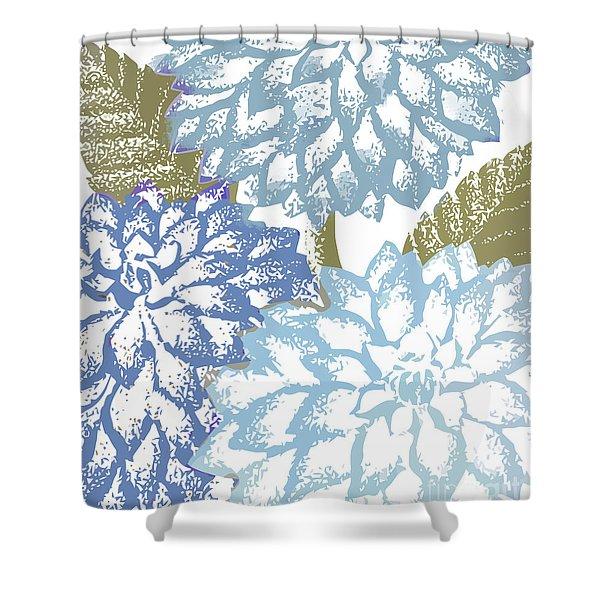 Sea Dahlias I Shower Curtain