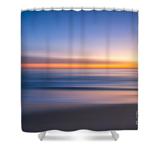 Sea Girt New Jersey Abstract Seascape Sunrise Shower Curtain