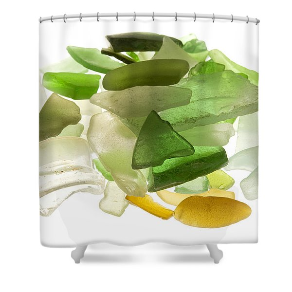 Shower Curtain featuring the photograph Sea Glass by Fabrizio Troiani