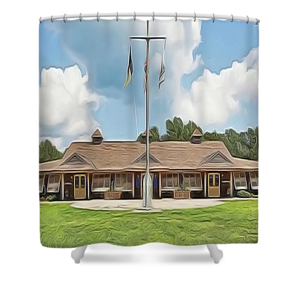 Sea Gull Dinning Hall Shower Curtain