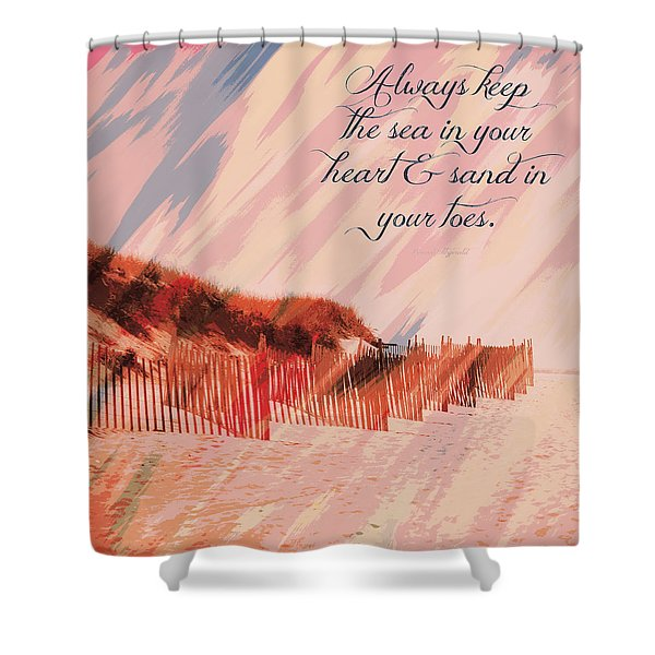 Sea In Your Heart Shower Curtain