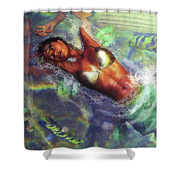 Sea Lioness Shower Curtain