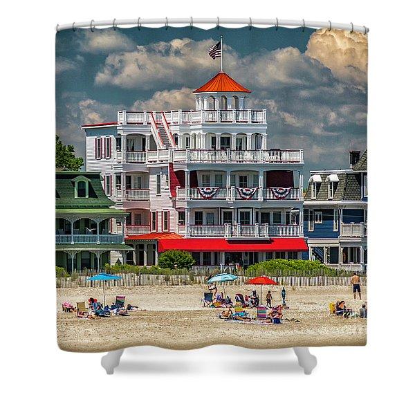 Sea Mist Hotel Shower Curtain