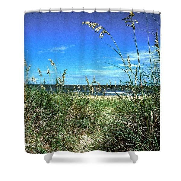 Sea Oat Dunes 11d Shower Curtain