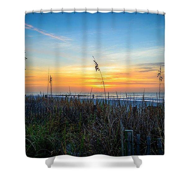 Sea Oats Sunrise Shower Curtain