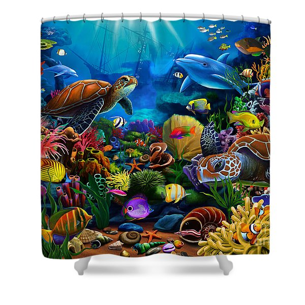 Sea Of Beauty Shower Curtain