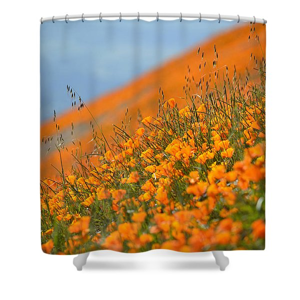 Sea Of Poppies Shower Curtain