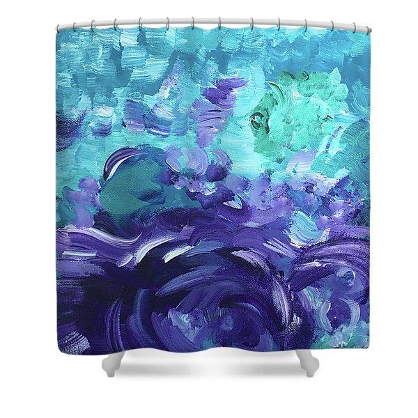 Sea Purple Shower Curtain