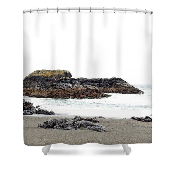 Sea Sand And Rocks Shower Curtain
