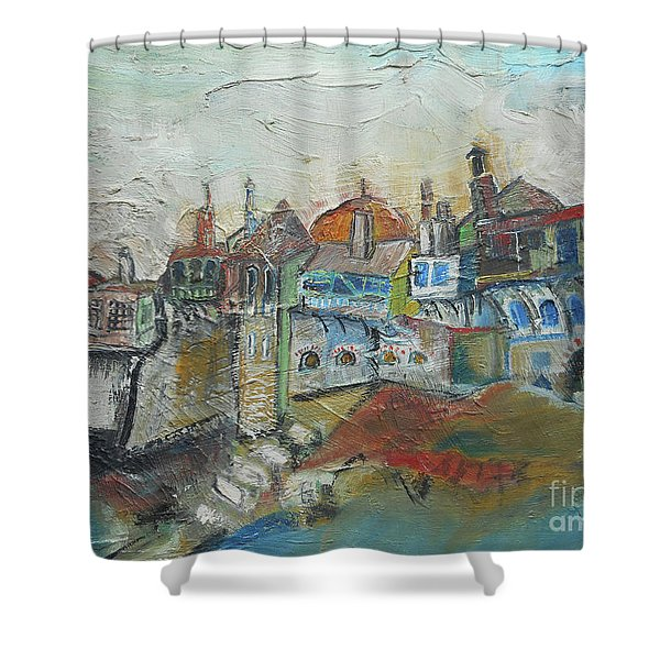 Sea Shore Village Shower Curtain