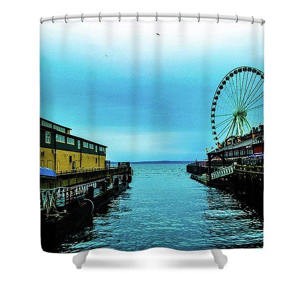 Sea Side, Seattle 2 Shower Curtain