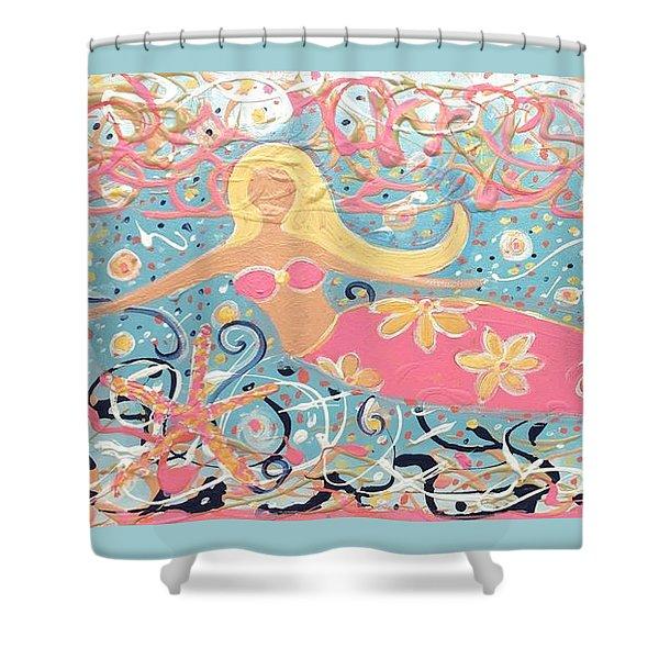 Sea Siren Blondie Shower Curtain