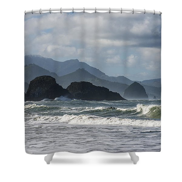 Sea Stacks And Surf Shower Curtain
