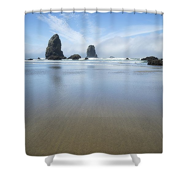 Sea Stacks At Cannon Beach Shower Curtain