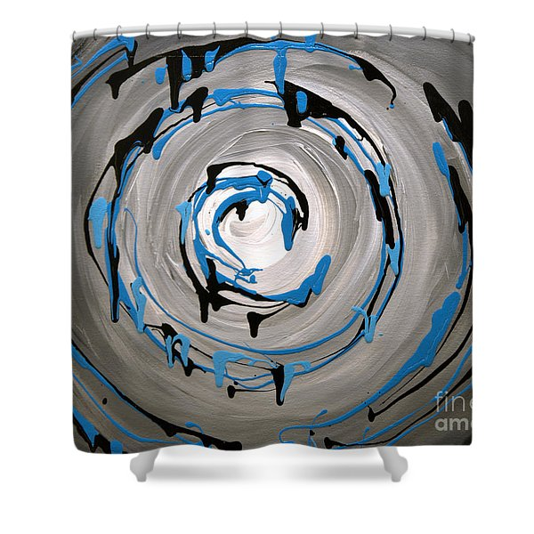 Sea Swirl  Shower Curtain