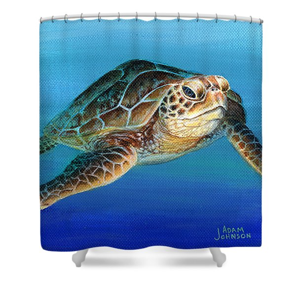 Sea Turtle 1 Of 3 Shower Curtain