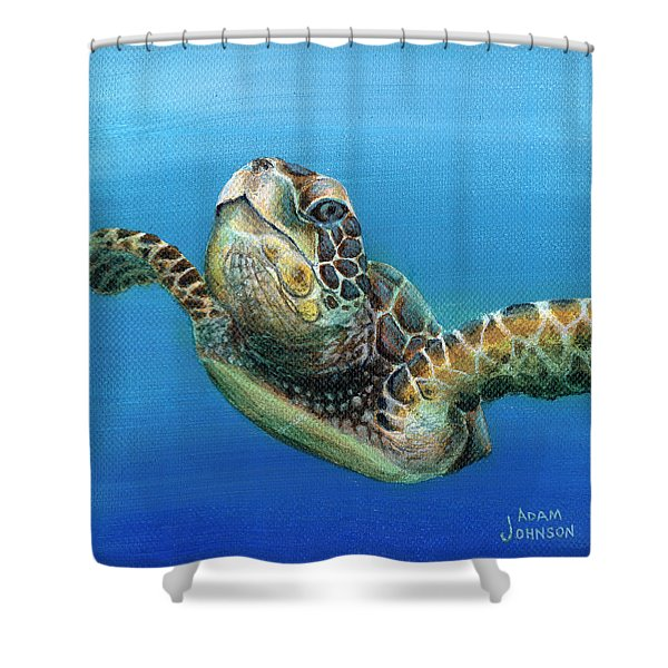 Sea Turtle 3 Of 3 Shower Curtain