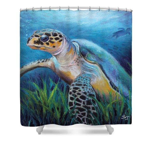 Sea Turtle Cove Shower Curtain