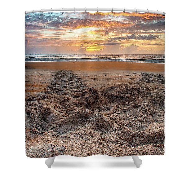 Sea Turtle Trails Shower Curtain