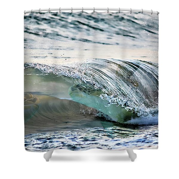 Sea Turtles In The Waves Shower Curtain