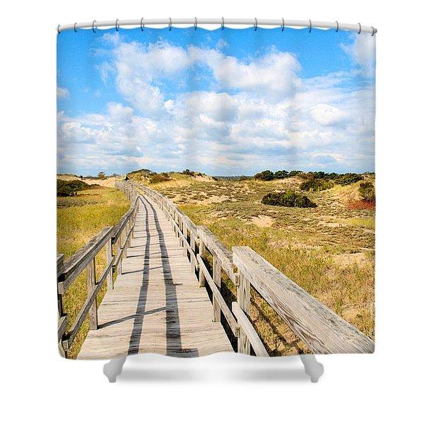 Seabound Boardwalk Shower Curtain