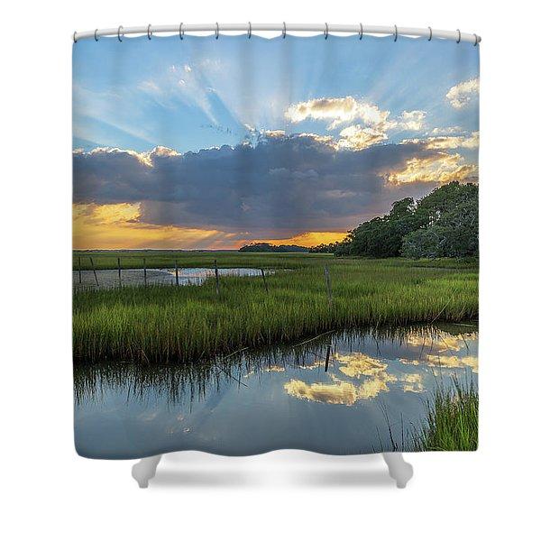 Seabrook Island Sunrays Shower Curtain