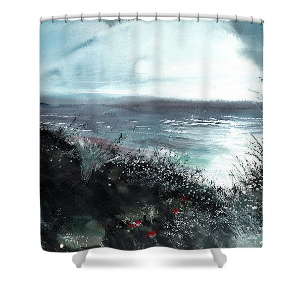Seaface Shower Curtain