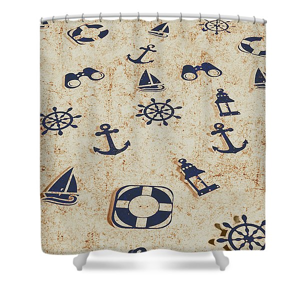 Seafaring Antiques Shower Curtain