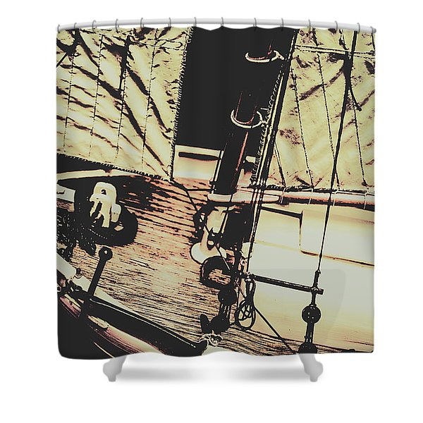 Seafaring Sails Shower Curtain