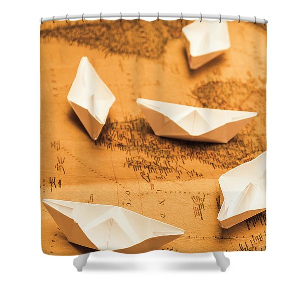 Seafaring The Seven Seas Shower Curtain