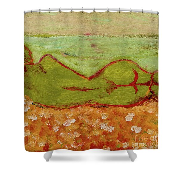Seagirlscape Shower Curtain