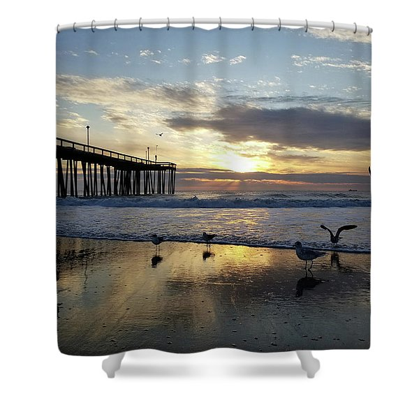 Seagulls And Salty Air Shower Curtain