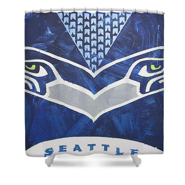 Seahawks Helmet Shower Curtain