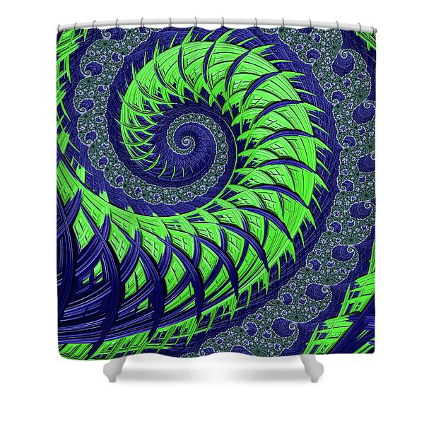 Seahawks Spiral Shower Curtain