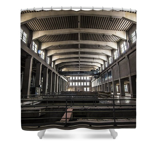 Seaholm Power Plant Shower Curtain