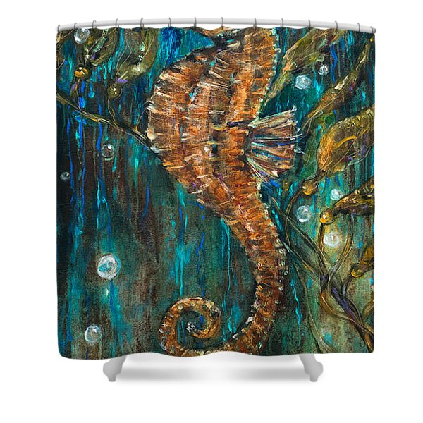 Seahorse And Kelp Shower Curtain